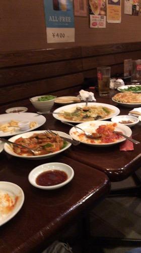 本日の中華料理