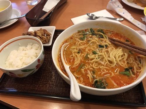 本日の担々麺