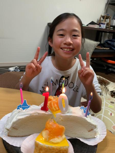 本日の10歳の誕生日